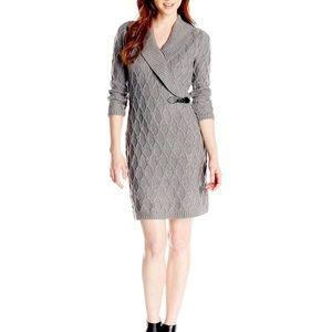 Calvin Klein Grey Sweater Dress PL NWT